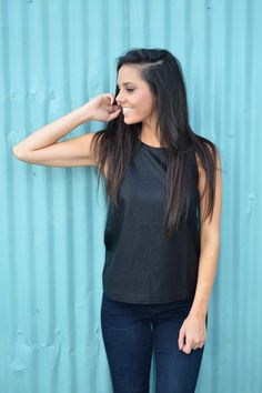 Kelly Vegan Leather Tank from Shop Southern Roots TX