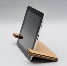 lasercut cardboard iPad stand