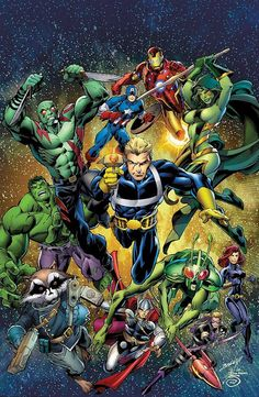 The Avengers & The Guardians of the Galaxy by Mark Bagley