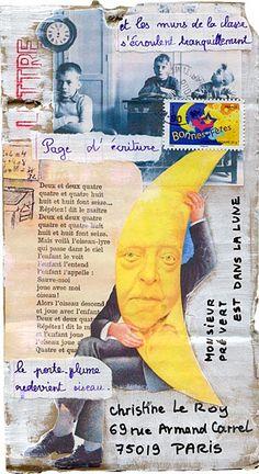 Mailart call Doisneau-Prévert: Annie Baisse