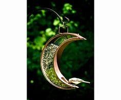 Crescent Moon Venetian Bronze Bird Feeder