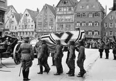 Funeral of Erwin Rommel, after he was forced by Adolf Hitler to commit suicide or have his family harmed.