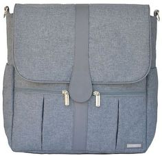 JJ Cole Baby Diaper Bag Backpack Gray Heather w/ Changing Pad NEW