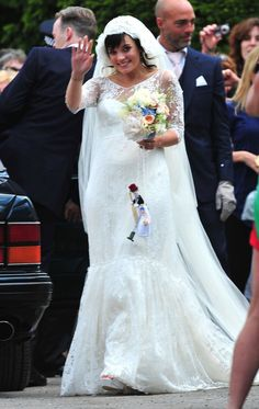 Lily Allen dressed in Delphine Menevet wedding dress!