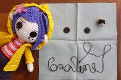 CORALINE 2X1 AMIGURUMI PATTERN crochet | Etsy Diy Crochet Patterns, Amigurumi Patterns, Free Crochet, Crochet Ideas, Coraline Doll, Coraline Jones, Coraline Characters, Crochet Dolls, Crochet Hats
