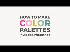 Learn how to create a color palette in Photoshop starting from an image you love. You can save the palette and use it in other projects.