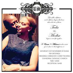 Talana zulu umembeso tradtional wedding invitation tias elegant wedding invite stopboris Choice Image