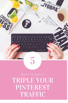 5 ways to easily triple your traffic Blogging For Beginners, Make Money Blogging, Pinterest Marketing, Social Media Tips, Business Tips, How To Start A Blog, Writing Tips, Creative Writing, 5 Ways