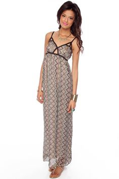 """""""lumiere collections"""" pon de replay maxi dress. ahhh i love the geometric neckline and the keyhole in the middle. $45 new today on tobi.com"""