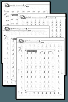 Rocket Math: Score Tracking Sheets | Rocket math, Math and Scores