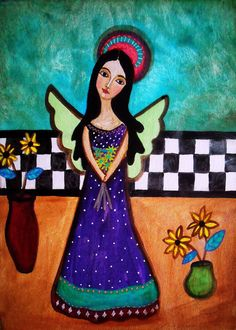 Pristine Cartera-Turkus Mexican Angel 16x20 in Matte Paper Print in Art, Folk Art | eBay