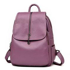884c99bfb0ce 52% СКИДКА|Lanzhixin Женские винтажные рюкзаки высокого качества кожаные  рюкзаки для девочек подростков Sac основной женский школьный рюкзак на  плечо 1082 ...