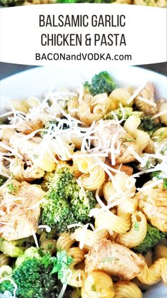 Balsamic Chicken Pasta, Chicken Broccoli Pasta, Healthy Chicken Pasta, Bacon Pasta Recipes, Chicken Recipes, Costco Chicken, Pot Pasta, Pasta Dishes, Pasta Meals