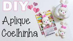 (DIY) Aplique Coelhinha em Biscuit (COM E SEM MOLDE)