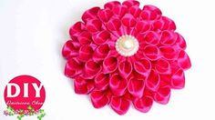 DIY Crafts : How to Make Beautiful Kanzashi Satin Ribbon Flower | DIY Girls Hair Accessories - YouTube