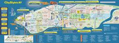 Large detailed city sights map of Manhattan, New York city | NYmap ...