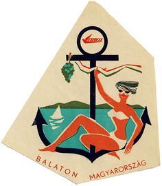 Lake Balaton, luggage collections guide tips photos Vintage Hotels, Vintage Ads, Vintage Prints, Luggage Stickers, Luggage Labels, Vintage Luggage Tags, Vintage Travel Posters, Retro Posters, Inspirational Artwork