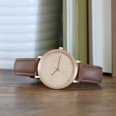 Tmbr. Minimalist Wood Watch - Helm - Rose Gold/Cherry
