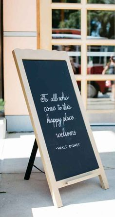 Walt Disney quote for wedding reception sign - The Wedding Story of REBECCA & DANIEL JACOBSON | WeddingDay Magazine