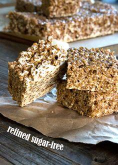 Gluten Free Crispy Rice Treats (Refined Sugar-Free!)