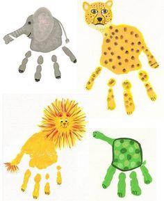 Hand Print Puppets