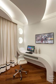 Most Popular Study Table Designs and Children's Chairs Today Ceiling Design Living Room, Bedroom False Ceiling Design, Ceiling Light Design, Bedroom Bed Design, Modern Bedroom, Living Room Designs, Trendy Bedroom, Study Table Designs, Plafond Design