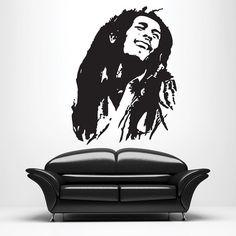 Large Bob Marley Wall Decal • Reggae Music • Rhasta • Wall Art • Mural • Sticker • Laptop Decal • MacBook Decal • Living Room • Bedroom
