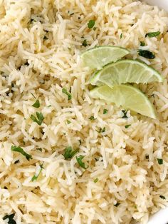 Instant Pot Cilantro Lime Rice Cilantro Lime Rice Recipe Side Dish Instant Pot cilantro lime rice is so fluffy full of lime and cilantro flavor and is quick easy Ins. Side Dishes Easy, Side Dish Recipes, Rice Recipes, Cooking Recipes, Healthy Cooking, Main Dishes, Chicken Recipes, Recipies, Healthy Eating