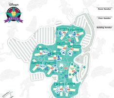 Every Official Disney World Map All In One Place - Disney Trippers Disney Map, Disney World Map, Disney Cruise, Walt Disney, Disney Value Resorts, Disney World Resorts, Disneyland Vacation, Disney Vacations, Disney Water Parks