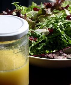 Citrus Vinaigrette - made it for a salad of baby spinach, mango, strawberries, carrots, craisins, and pecans. Yummers!!!