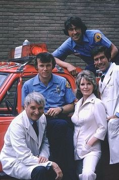 The cast of 'Emergency' in 1975: Kevin Tighe, Bobby Troup, Randy Mantooth, Julie London, Robert Fuller. Photo: NBC/Mario Casilli/IMDB.com