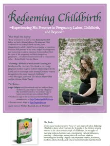 "Introduce ""Redeeming Childbirth"" to your Moms group by putting this flyer on the bulletin board in the ""mother's room"""