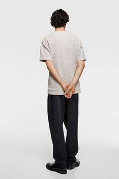 ZARA - Male - Textured weave sweatshirt with pocket - Natural - Xl People Walking Png, People Png, Poses For Pictures, Editing Pictures, Pictures To Draw, People Cutout, Cut Out People, Sectional Perspective, Gesture Drawing Poses