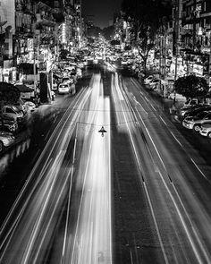 Hey Myanmar. Still so busy even at night. . . . #travel #myanmar #longexposure #nightphotography #traffic #lighttrail #bnw #bnwmood #bnwphotography #bnw_life #blackandwhite #monochrome