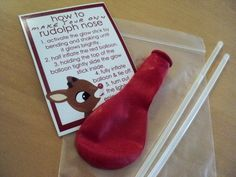 A Little Learning For Two: Rudolph Noses - Pre School Gift Idea