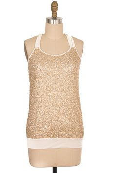 Express Gold Sequin Top Size XS | ClosetDash #fashion #style #tops #blouse
