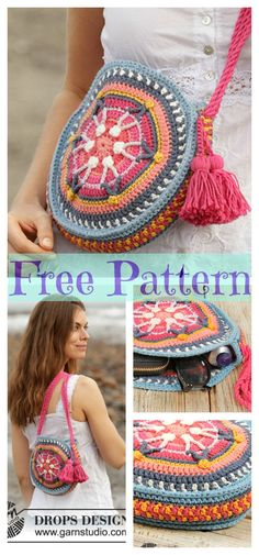 Crochet Summer Bags - Free Patterns : 8 Crochet Summer Bags – Free Patterns 8 Crochet Summer Bags - Free Patterns : 8 Crochet Summer Bags – Free Patterns Crochet pattern Boho Flower Slouch Bag by ATERGcrochet Unique Crochet, Cute Crochet, Beautiful Crochet, Crochet Crafts, Crochet Projects, Crochet Summer, Crochet Owl Purse, Crochet Handbags, Crochet Purses