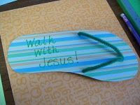 Walk with Jesus craft for preschoolers - Road to Emmaus, Spring 2013