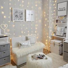 Small Room Bedroom, Room Ideas Bedroom, Master Bedroom, Girl Room Decor, Diy Bedroom, Small Teen Room, Master Suite, White Room Decor, Bedroom Furniture