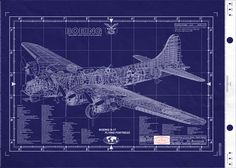 Boeing B-17 Flying Fortress blueprint