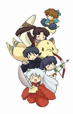 Inuyasha And Sesshomaru, Kagome And Inuyasha, Inuyasha Funny, Inuyasha Fan Art, Miroku, Kagome Higurashi, Chibi, Manga Anime, Anime Art