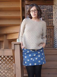 Grainline Moss Skirt x Spoonflower - grainline