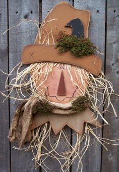 #K117 Primitive Country Scarecrow