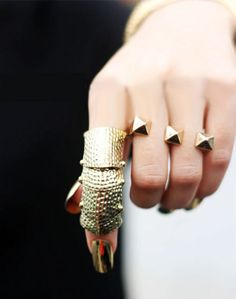 awesome double finger ring
