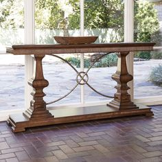 Ambella Home Woodford Console Table-Nutmeg