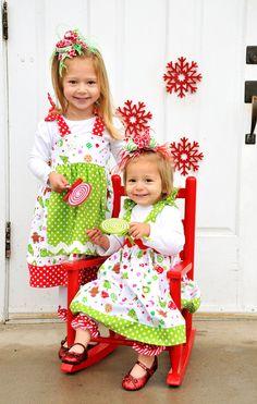 Adorable! Christmas bows!