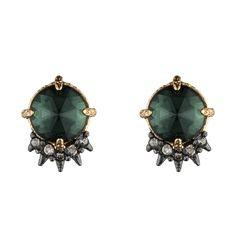 Viridian Cabochon Crystal Spike Earring | Alexis Bittar