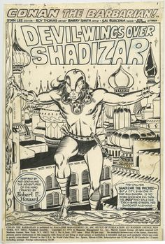 Conan  The Barbarian Page Original art by Barry Windsor-Smith for Marvel  Comics with story by Roy Thomas. d7b0be739e