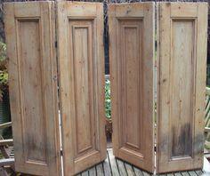 Pair of georgian wooden window shutters | eBay