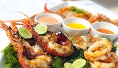A bountiful seafood platter.